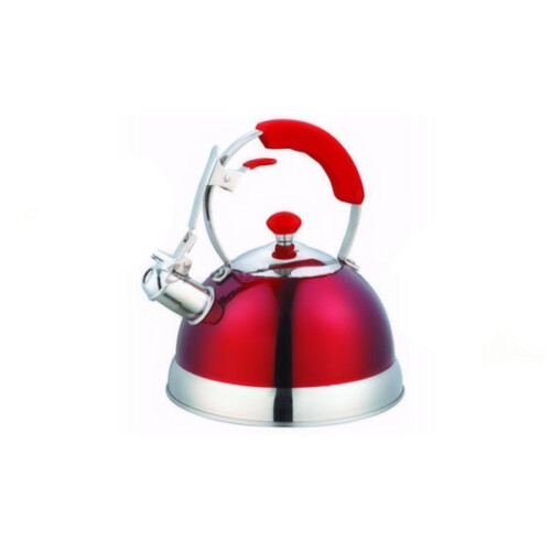 Metallic Red Whistling Kettle