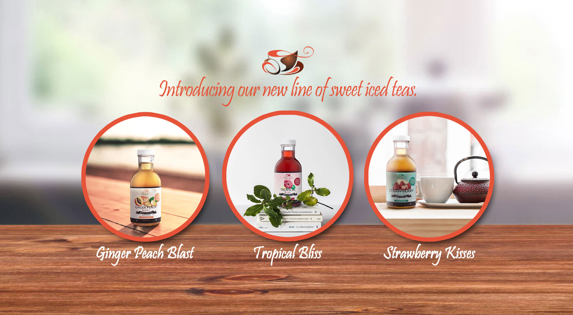 Introducing our new line of sweet iced teas.